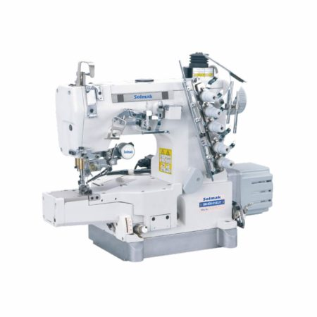 FLATBED INTERLOCK SEWING MACHINE WITH TOP AND BOTTOM THREAD TRIMMER SM-600-01/AT/EUT