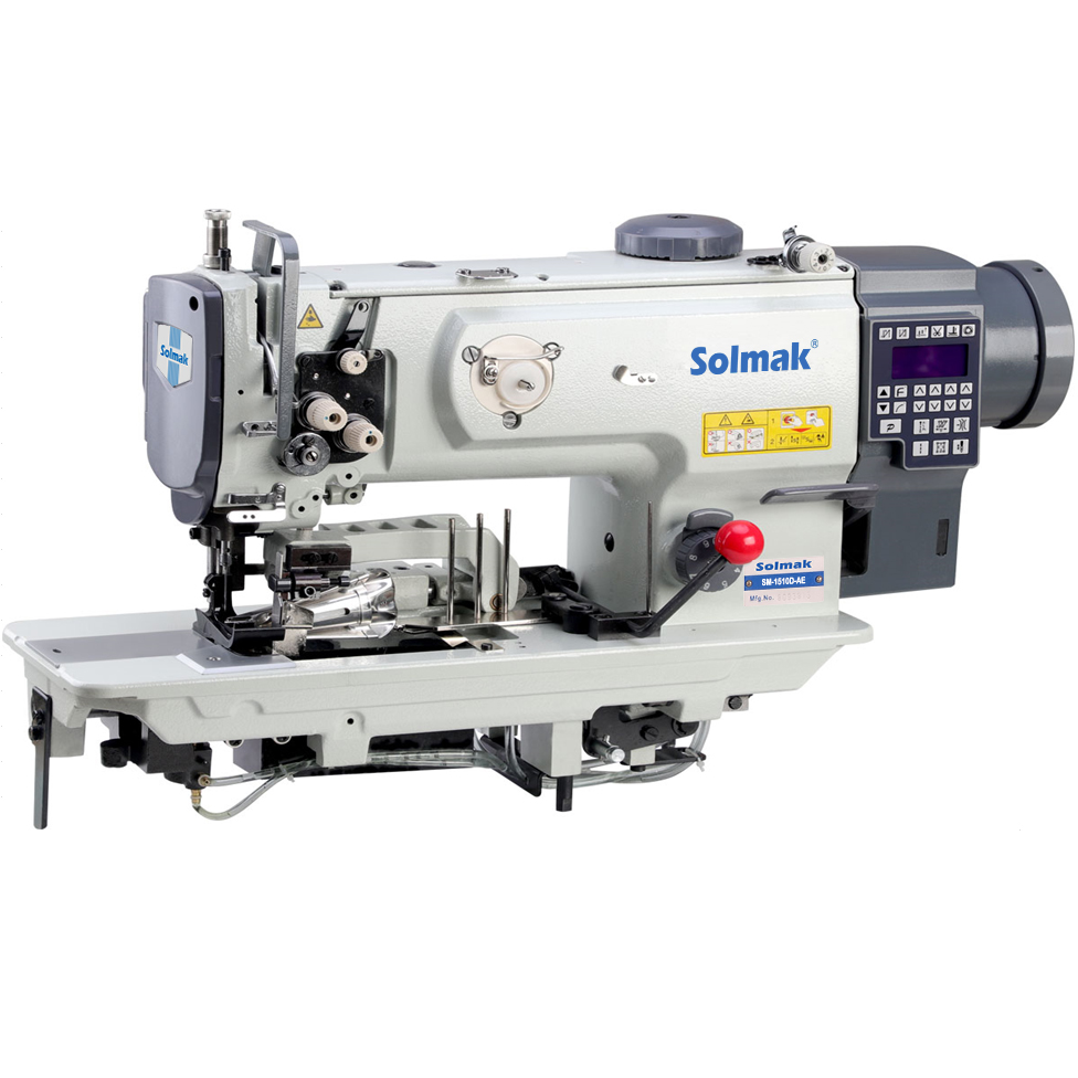 Compound feed lockstitch sewing machine with combination of cutting and binding SM-1510D-AE
